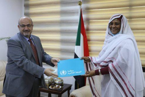 وزيرة الخارجية تستقبل ممثل منظمة الصحة العالمية لدى السودان.
