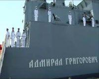 البحرية السودانية تستقبل سفينة حربية روسية بميناء بورتسودان