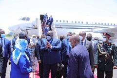 رئيس الكونغو الديمقراطية يصل البلاد في زيارة رسمية