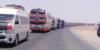 بدء عمليات تفويج المركبات بقطاع النيل الأبيض