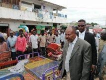 والي جنوب دارفور يقف على عمليات التعدي بسوق نيالا