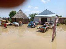 الامطار والسيول  تجتاح قرية الطنيدبة بمحلية المفازة