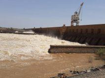 ارتفاع كبير في منسوب مياه النيل الأزرق بمدينة سنجة